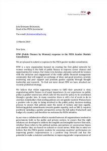 PFW (PEFA) Consultation Response March 2019
